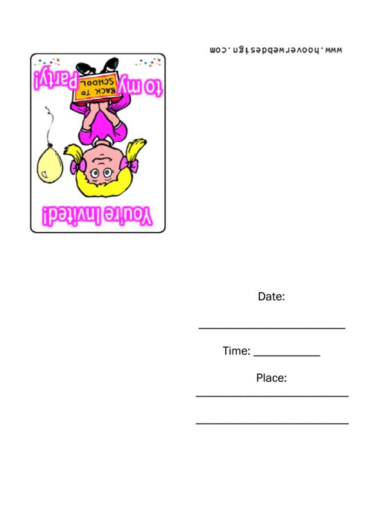 Party Invitation Template Printable pdf