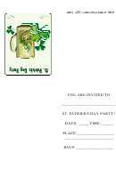 St. Patrick's Day Party Invitation Card Template