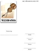 Invitation Template - Violin Recital