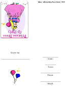 Invitation Template - Princess Dress Up Party