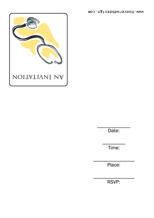 Medical Invitation Template Printable pdf