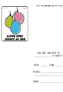 End Of School Year Party Invitation Template