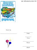 Invitation Template - Amusement Park Party