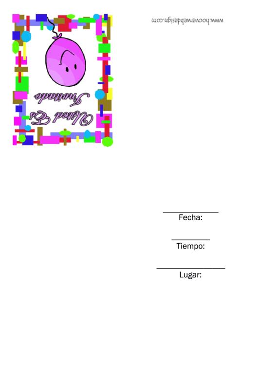 Spanish Invitation Template Printable pdf