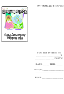 Invitation Template - 60th Wedding Anniversary Party