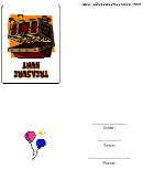Invitation Template - Treasure Hunt