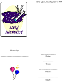 Invitation Template - Astronomy Party