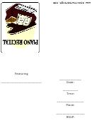 Invitation Template - Piano Recital