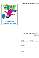 Invitation Template - End Of School Year Party