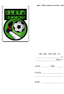 Invitation Template - Soccer Party