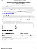Application For Amended Certificate Of Authority - 2014