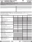 California Schedule K-1 (541) - Beneficiary's Share Of Income, Deductions, Credits, Etc. - 2012
