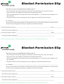 Girl Scouts Of Suffolk County Blanket Permission Slip Form