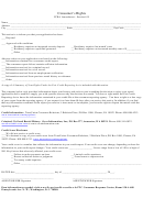 Consumer's Rights Form