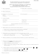 Form Rp-446 - Application For Real Property Tax Exemption For Unimproved Cemetery Land