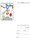 Black Light Party Invitation Template
