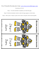 Robot Bookmark Template