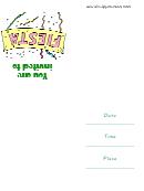Fiesta Party Invitation Template