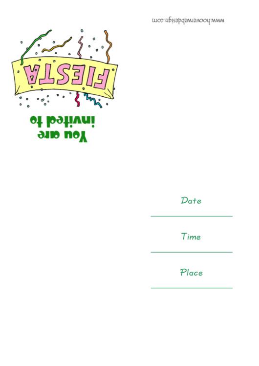 Fiesta Party Invitation Template Printable pdf