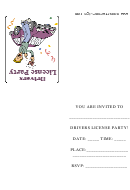 Drivers Licence Party Invitation Template