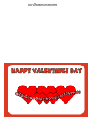String Of Hearts Happy Valentines Day Card Template