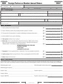 California Form 592-f - Foreign Partner Or Member Annual Return - 2009
