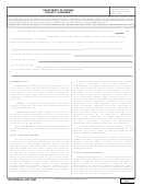 Form Dd 441 (back) - Department Of Defense Security Agreement -form Tc-20s