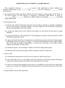 Adoption Placement Agreement Form