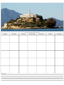 A Beautiful Island Themed Monthly Planner Template