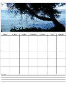 Sea View Themed Monthly Planner Template