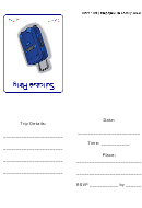 Suitcase Party Invitation Template