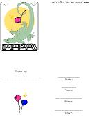 Lizard Themed Invitation Template