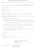 Military Discharge Certificate Release Form - Notary Public For The State Of Montana