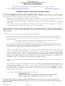 Intervention Affidavit Form - Nevada Department Of Business And Industry