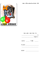 Divorge Party Invitation Template