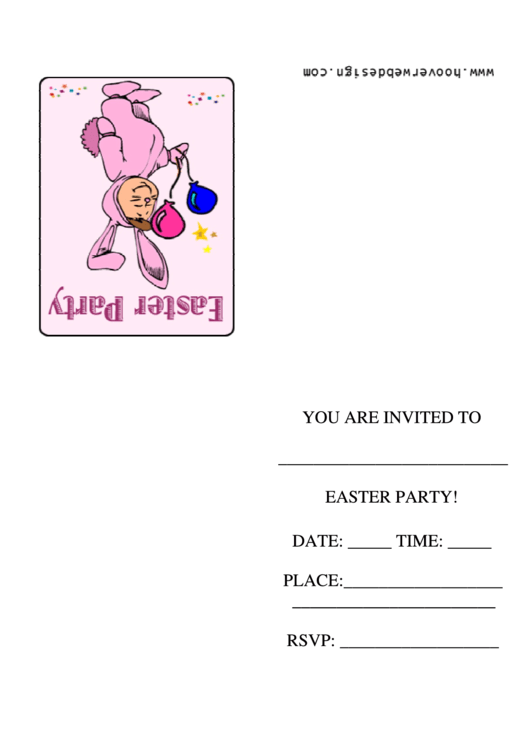 Easter Party Invitation Template Printable pdf