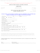 Application For Vehicle Financing During Chapter 13 Plan Form - Office Of The Standing Chapter 13 Trustee