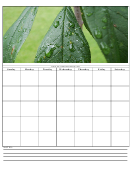 Green Leaves Themed Monthly Planner Template