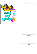 School's Out Party Invitation Template