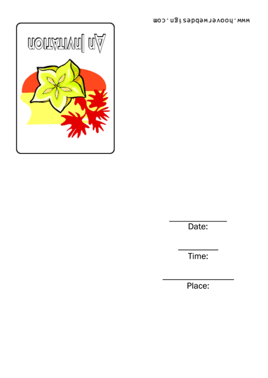 Indian Themed Invitation Template Printable pdf