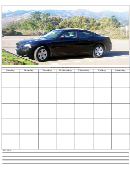 Car Themed Monthly Planner Template