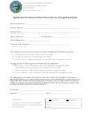 Application For Senior Citizen Sewer Service Charge Exemption Form - City Of Chicago Department Of Finance