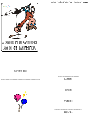 Rodeo Birthday Party Invitation Template
