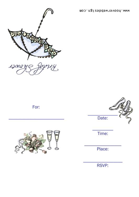 Bridal Shower Invitation Template Printable pdf