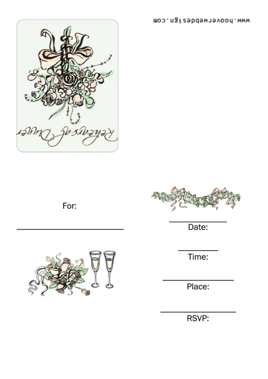 Rehearsal Dinner Invitation Template Printable pdf