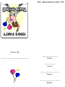 90's Themed Party Invitation Template