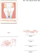 Bridal Luncheon Invitation Template