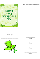 St Patrick's Day Party Invitation Template
