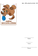 Doggy Daycare Party Invitation Template