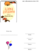 Harvest Party Invitation Template